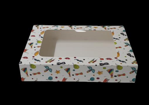 Cutie carton cu fereastra party 22x22,5x5cm 25 buc/set de la Cristian Food Industry Srl.