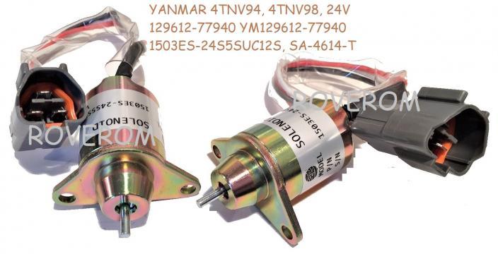 Solenoid 24V, Yanmar 4TNV94, 4TNV98, Hyundai, Takeuchi de la Roverom Srl
