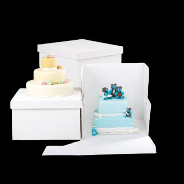 Cutii albe tort 25x25x25cm 10 buc/set de la Cristian Food Industry Srl.