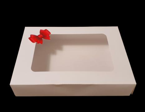 Cutie alba carton cu fereastra si fundita 24,5x34,5x6,5 de la Cristian Food Industry Srl.