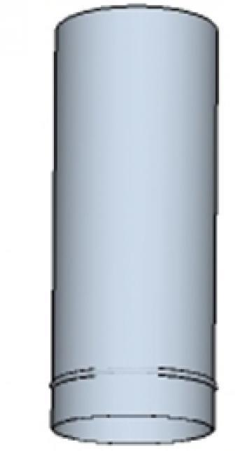 Tub rotund din otel inoxidabil 400 200mm