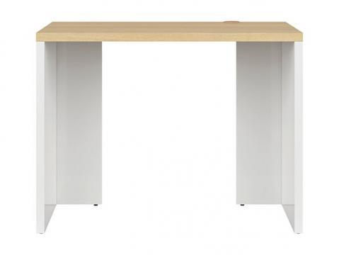 Birou Dan, sonoma/alb, 100 cm de la CB Furniture Srl