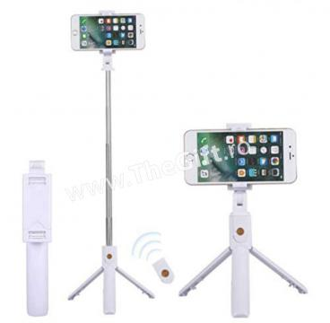 Stick selfie, cu tripod si telecomanda Bluetooth, K07 de la Thegift.ro - Cadouri Online