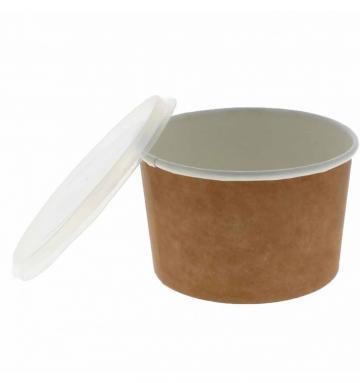 Bol supa carton natur/alb 16oz (473cc) 500 buc/bax de la Cristian Food Industry Srl.