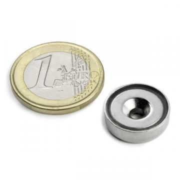 Magnet neodim oala 16 mm, cu gaura ingropata de la Arca Hobber Srl
