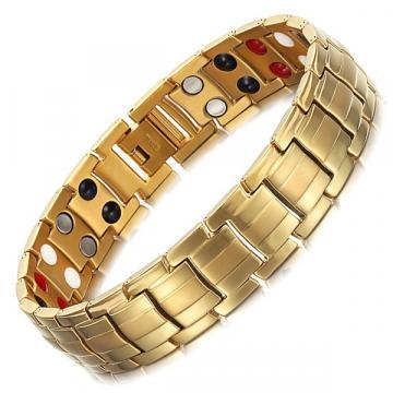 Bratara magnetica din otel inoxidabil, gold, TY246QJ de la Arca Hobber Srl