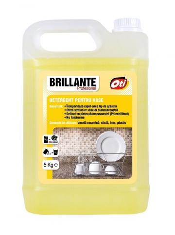 Detergent pentru vase Brillante Profesional - 5 litri de la Medaz Life Consum Srl