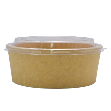 Bol carton salata kraft natur 1250cc, 300 buc/bax de la Cristian Food Industry Srl.