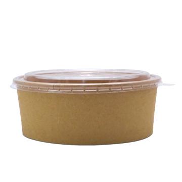Bol carton salata kraft natur 750cc, 400 buc/bax de la Cristian Food Industry Srl.