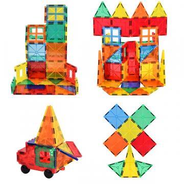 Joc de constructie magnetic, Magnetic Tiles Castle, 88 piese de la Arca Hobber Srl