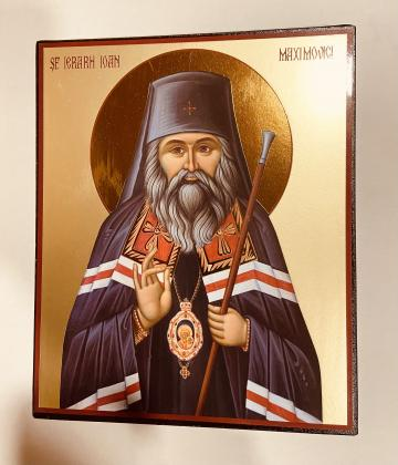 Icoana medie Sfantul Ioan Maximovici 22.5cm de la Candela Criscom Srl.