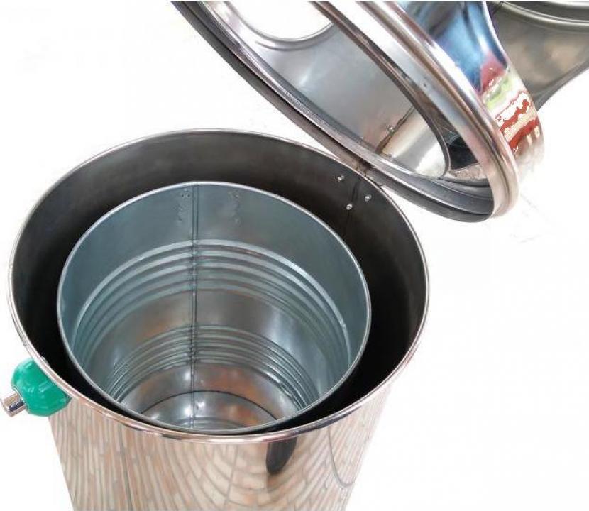 Cos gunoi inox 75 litri cu scrumiera