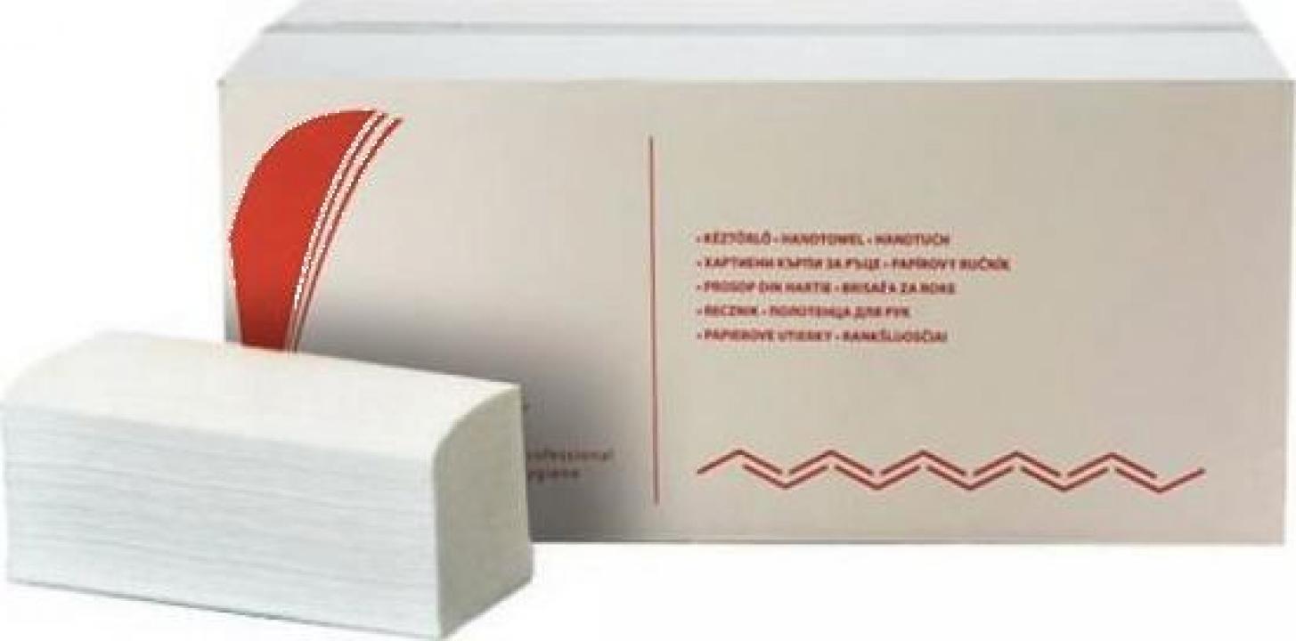 Prosoape pliate din hartie V Bokk, 2 straturi