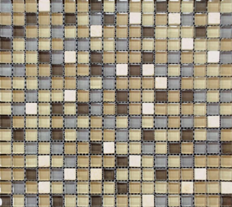 Mozaic piatra naturala si sticla MMX004