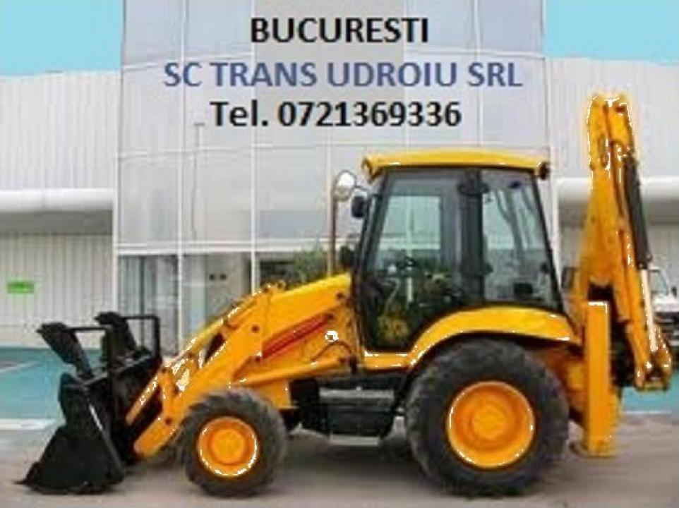 Buldoexcavator cu picon Bucuresti si Ilfov