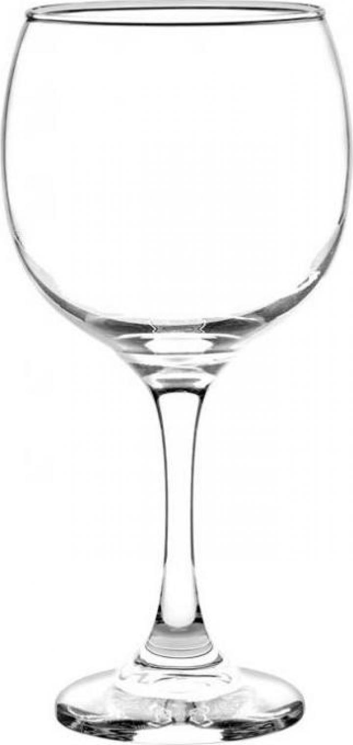 Set 6 pahare sticla pentru vin rosu 620cc Cristar Premier