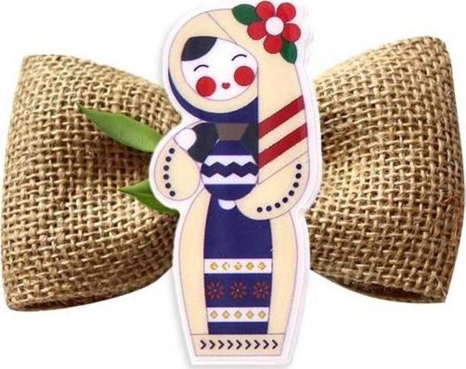 Brosa, martisor traditional Tarancuta cu naframa