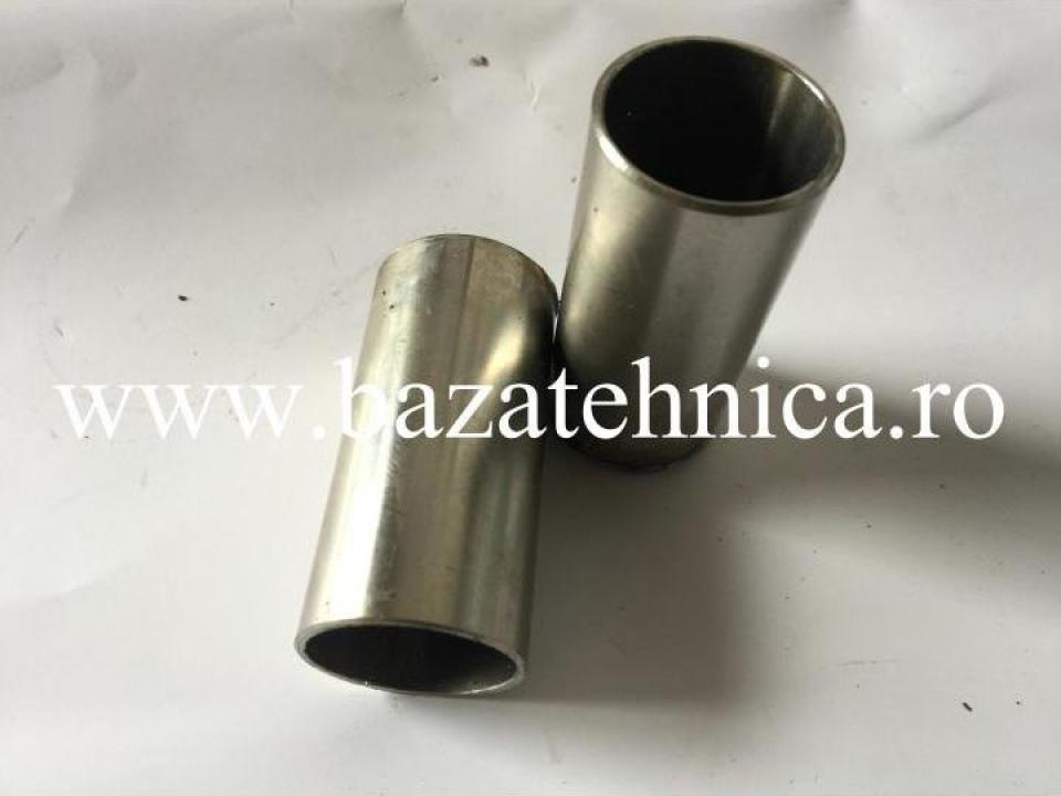Pipa inox D 30x100 mm, fixare balustrade inox