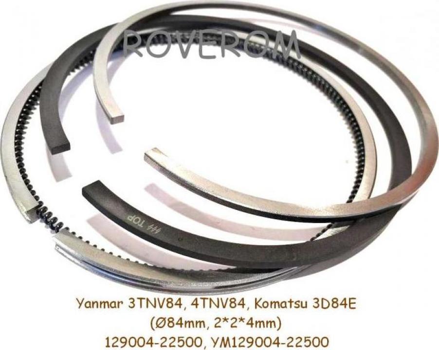 Segmenti piston motor Yanmar 3TNV84, 4TNV84 (d=84mm) - Bacau