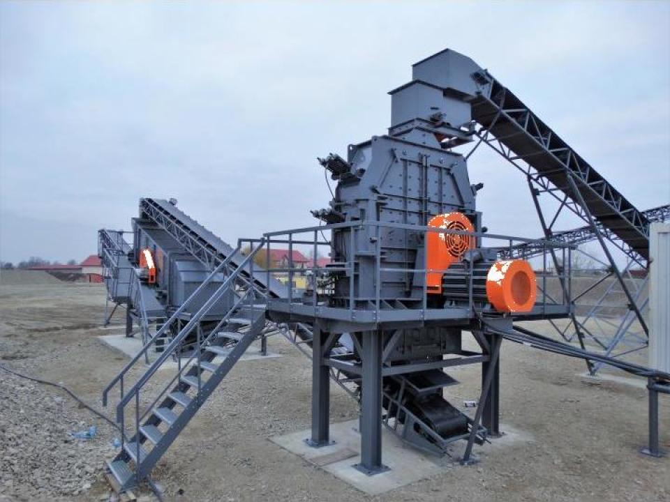 Statie concasare pentru producere nisip, reversibila