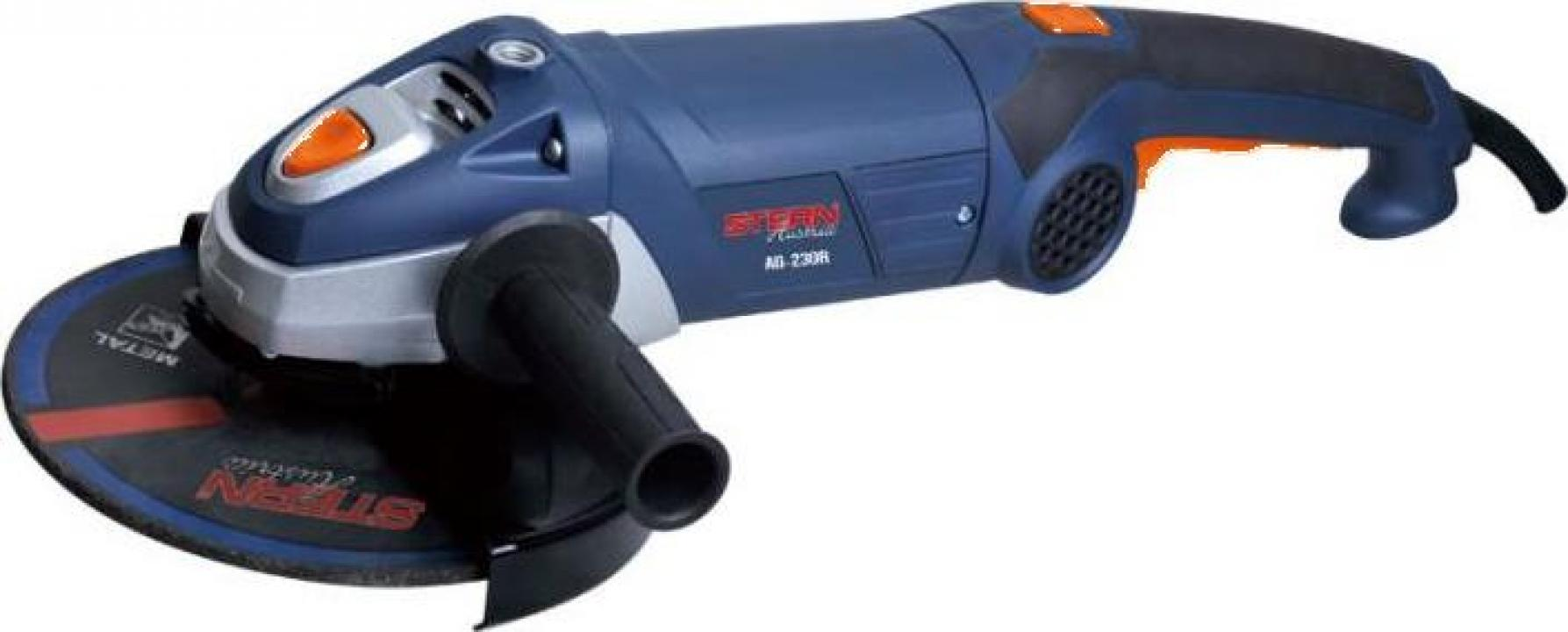Polizor unghiular Flex Stern Ag230r, 2500w, 6500rpm, 230mm