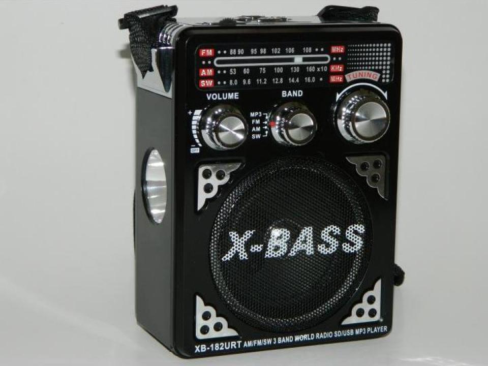 Radio cu MP3 player si lanterna Waxiba XB-182URT