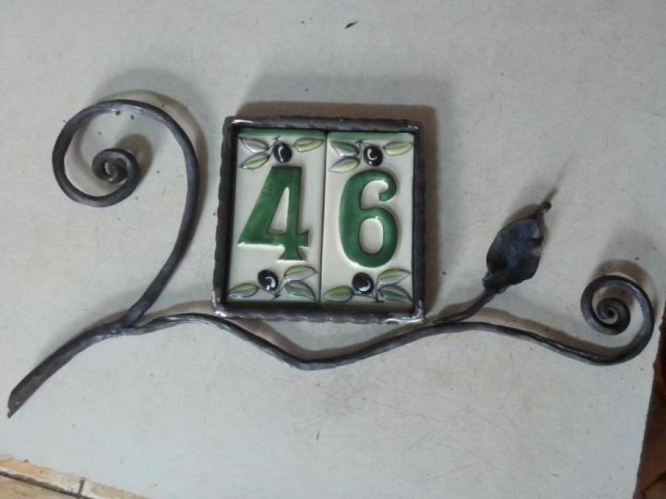 Numar de casa din fier forjat