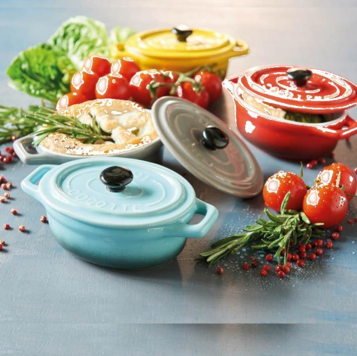 Set 3 mini vase ceramica pentru gatit