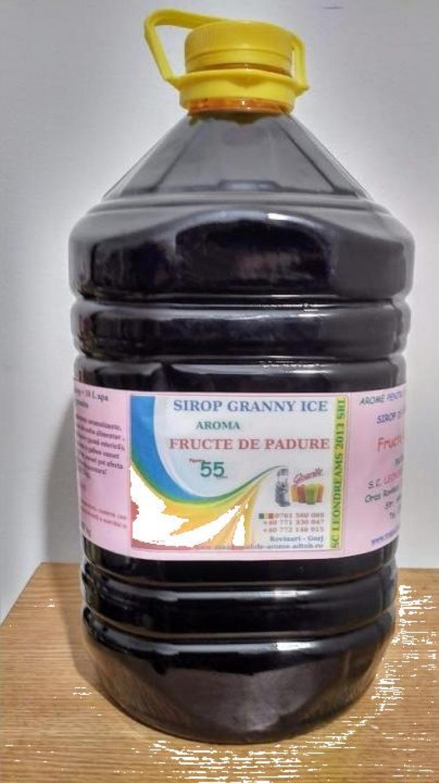 Sirop granita 5L - cu aroma fructe de padure