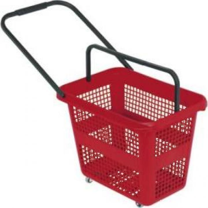 Cos cumparaturi Roller din plastic 54 litri
