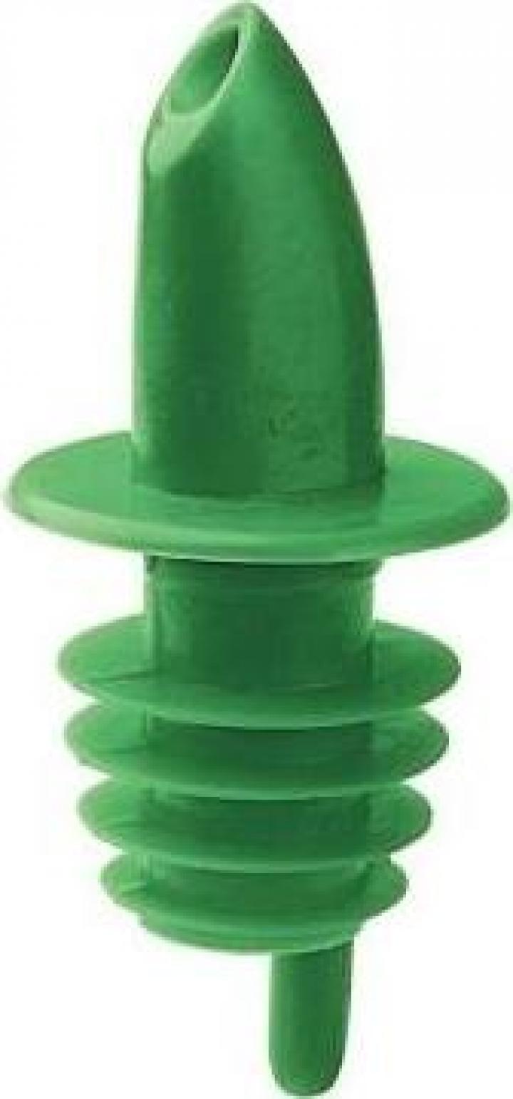 Pourer plastic verde
