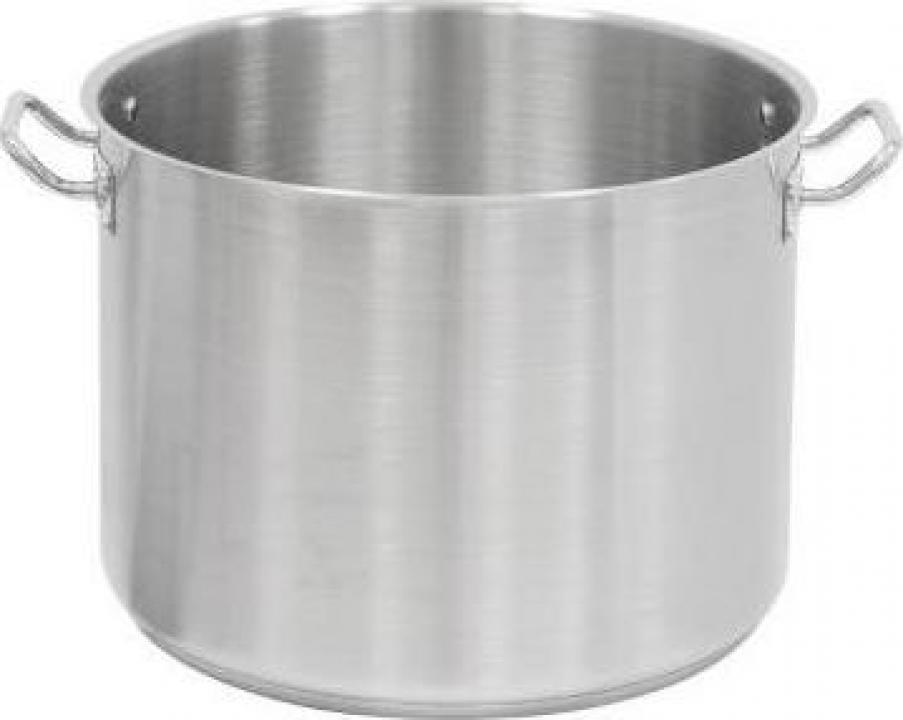 Cratita inox inalta - semioala - fara capac 22.4 litri