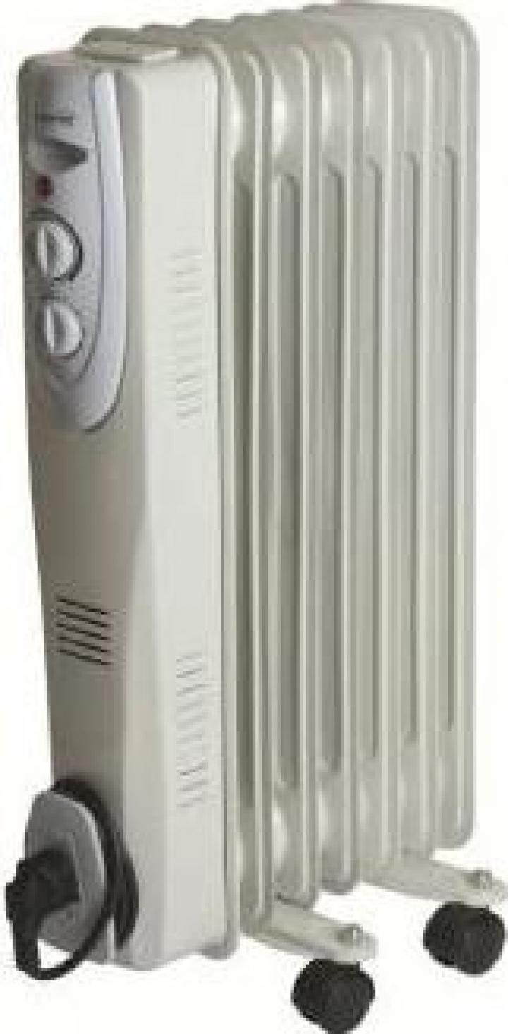 Radiator cu ulei 7 elementi, Home FKOS 7, 1500 W