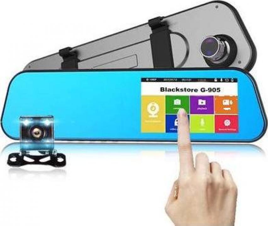 Camera auto dubla oglinda cu touchscreen
