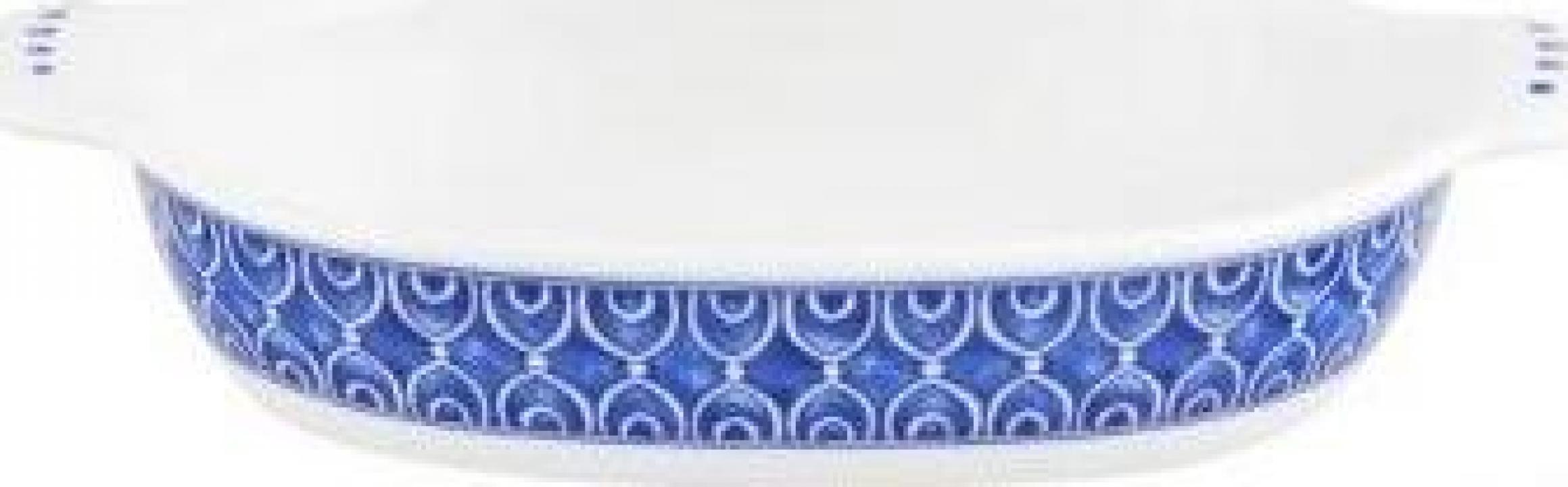 Bol oval pentru gratinat, decorat, 24.5x14 cm