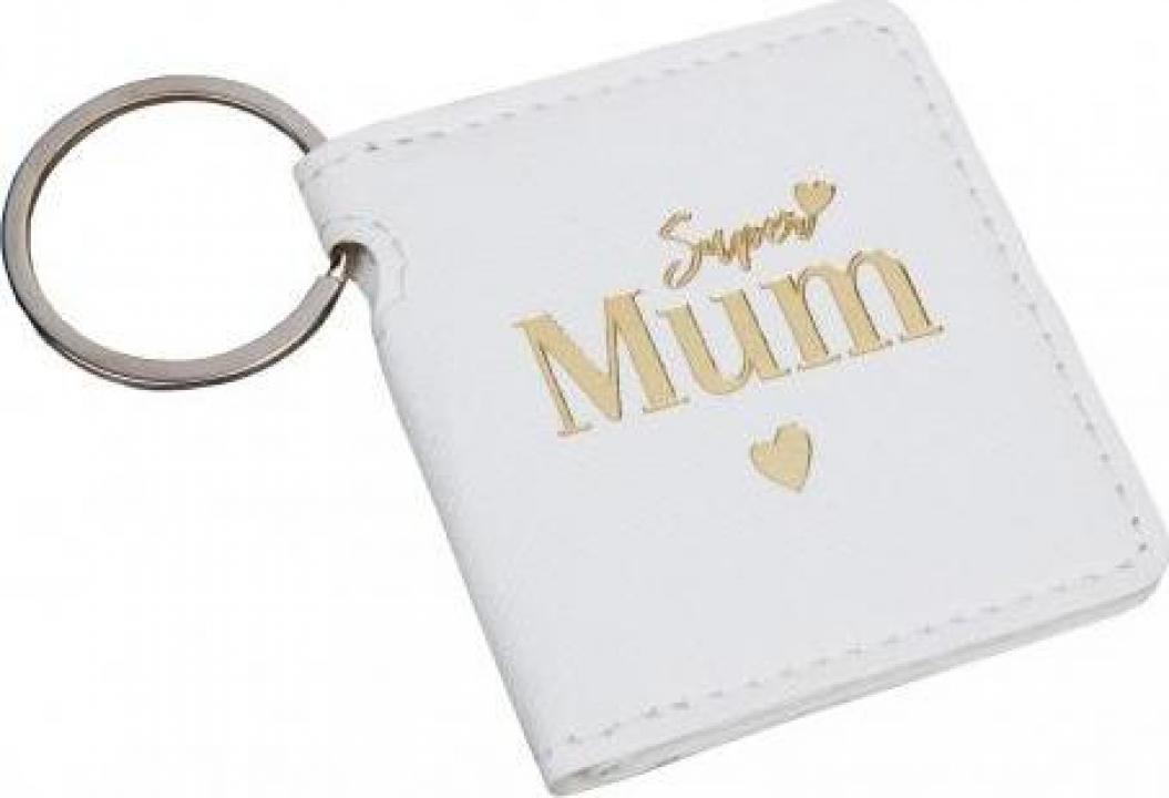 Breloc cadou pentru mama Super Mum