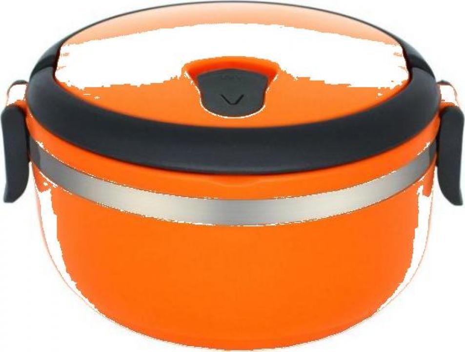 Caserola termica 0.7 litri, orange, Heinner