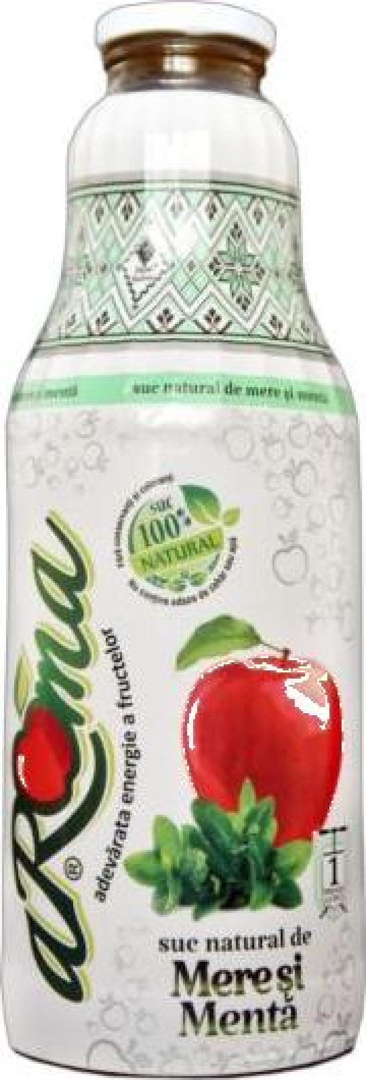 Suc natural de mere si menta - Aroma 1 L