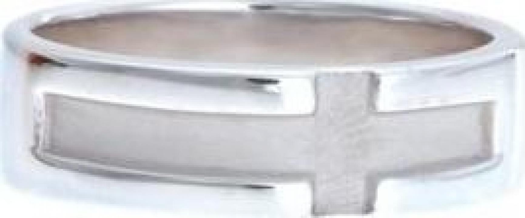 Inel din argint rodiat - verigheta