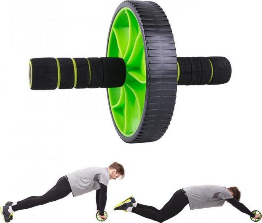 Roata fitness pentru abdomene cu exercitii