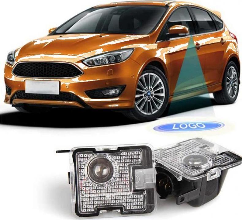 Lampi dedicate oglinzi laterale cu logo Ford pentru Focus