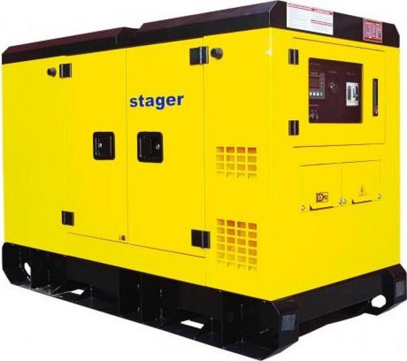 Generator silent Stager YDY303S3, diesel, 303kVA