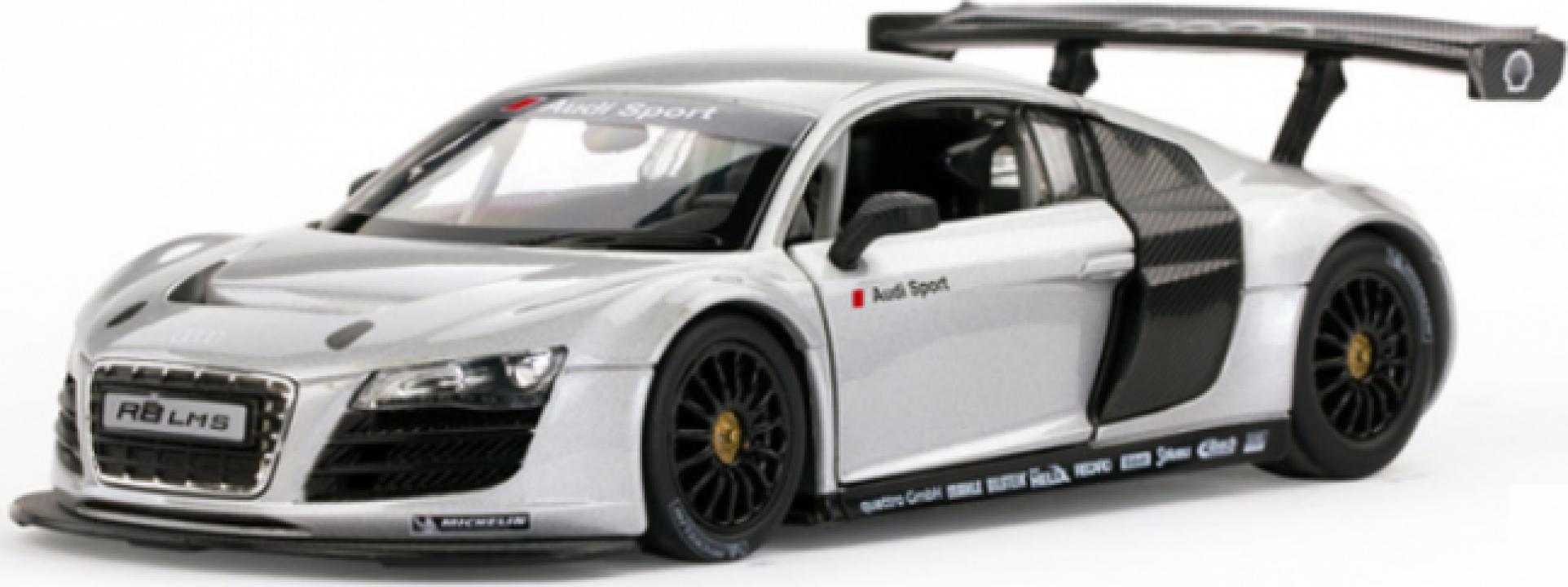Macheta Masina Rastar, Audi R8 1:14 RTR cu telecomanda - alb