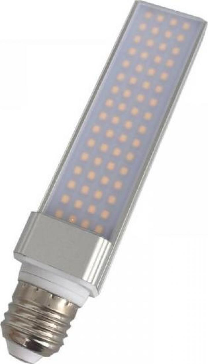 Bec cu led PLC E27 13W 230V lumina rece Well