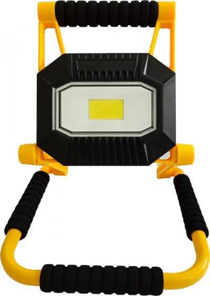 Proiector LED portabil reincarcabil 20W 1400lm IP65 Well