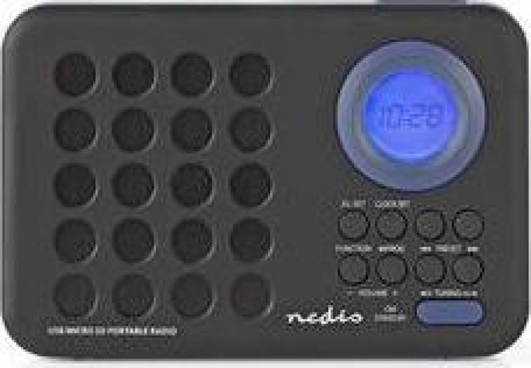 Radio cu ceas si alarma 3 W port USB si MicroSD