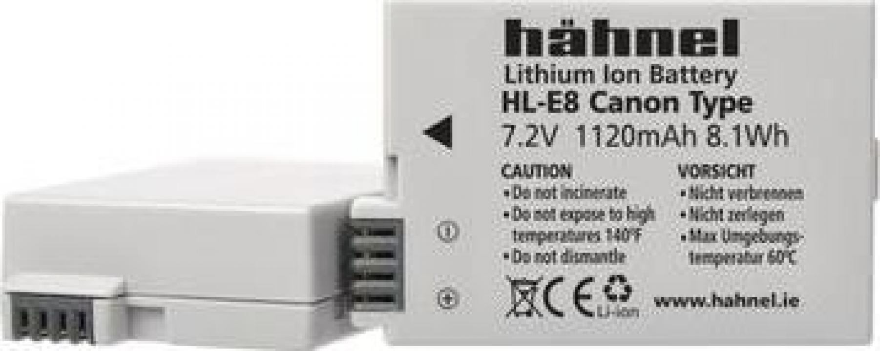 Acumulator Hahnel HL-E8 Canon LP-E8 1070mAh
