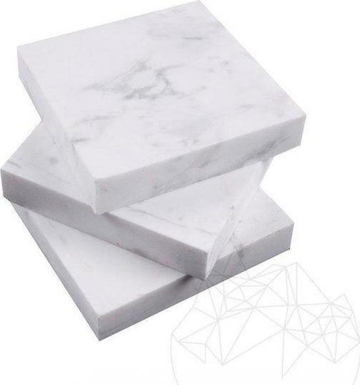 Buton marmura Volakas polisata 9.5 x 9.5 x 2cm