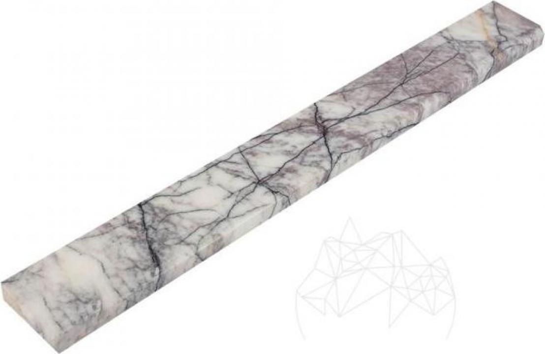 Plinta marmura Calacatta Lilac Polisata 7 x 60 x 2 BZ 1L